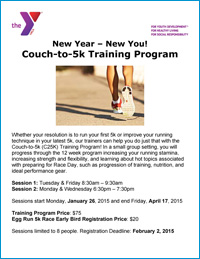 Couch to 5k Training Program Beginning January 26, 2015
