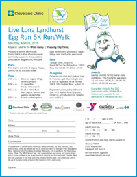 Live Long Lyndhurst Egg Run 5K Run / Walk - April 25th 2015