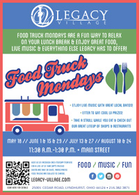 Legacy Village Food Truck Mondays: Food / Music / Fun