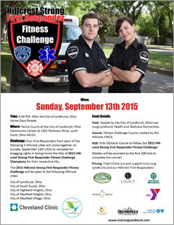 2015 Hillcrest Strong First Responder Fitness Challenge Flier