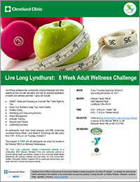 Launch Flier: Live Long Lyndhurst 8 Week Adult Wellness Challenge Every Thursday at the Hillcrest YMCA October 5th 2017 to November 30th 2017 - Live Long Lyndhurst: A Health and Wellness Initiative