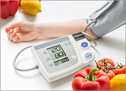 Photo of Blood Pressure reading.