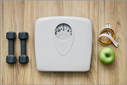 A body weight scale.